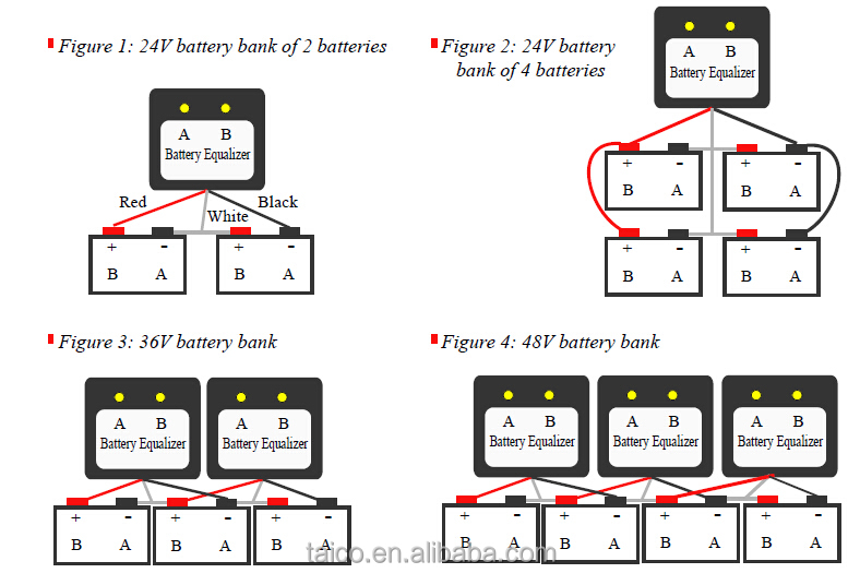 24v battery equalizer for lead acid battery to balance the