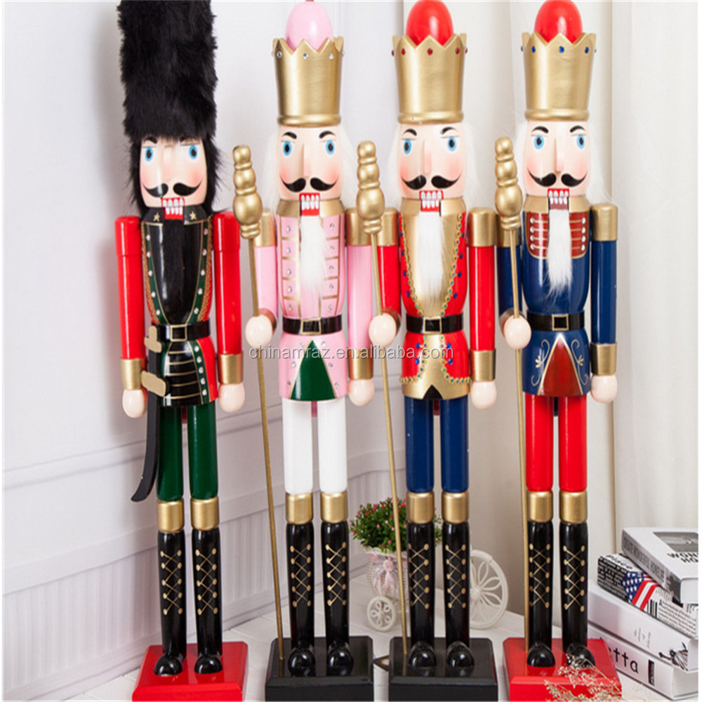 90cm Christmas Wooden Soldier Nutcracker,Christmas Wood Nutcrackers ...