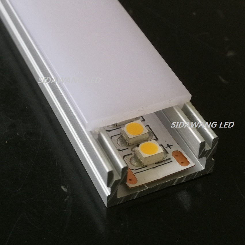 2m Waterproof floor flat Led Aluminum profile extrusion for 12mm width strip SDW010