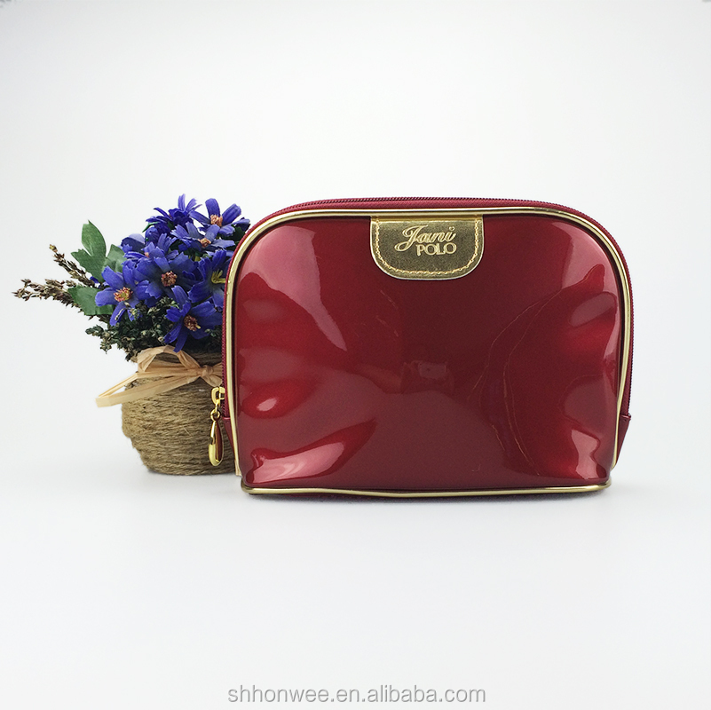 Mini Patent Leather Cosmetic Bag Cosmetic Makeup Bag