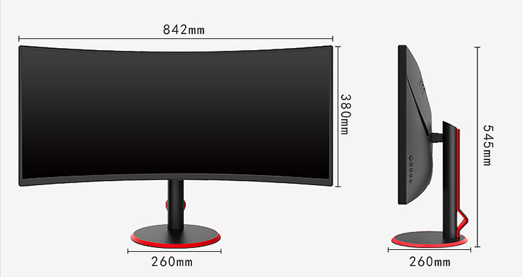 OEM Ultra Wide 21:9 35 Inch 2K 200Hz Curved Computer Gaming Monitor DC 24V Power Supply