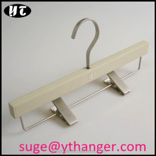 WT6321 wooden trouser hangers stone color hanger