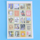 4 Pcs / Pack Diy Scrapbooking Paper Vintage London Dorothy Diary Stamp Stickers Wedding Decoration Sticker
