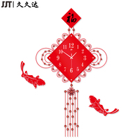 China Style Wooden Young Town Quartz Silent Wall Clock Movement