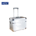 Heavy Duty Utility Aluminum Trunk Transport Road Tool Box Flight Case with Trolley