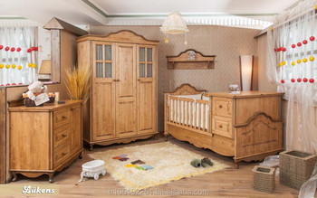 Lukens Wooden Mive Baby Furniture Solid Wood Crib And Room Bedroom