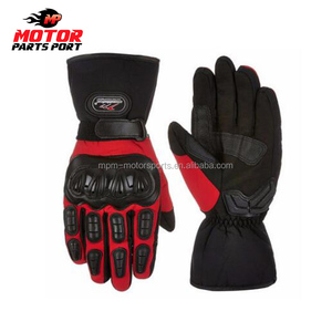 Black heated leather gloves motorbike gloves winter
