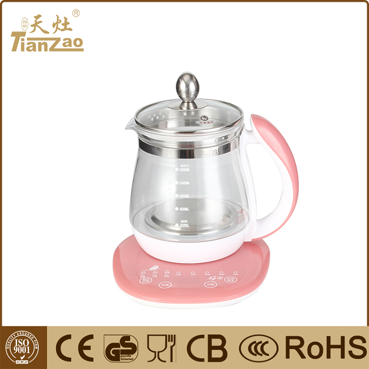 1.8L Promotional home appliances electric glass kettle for tea maker