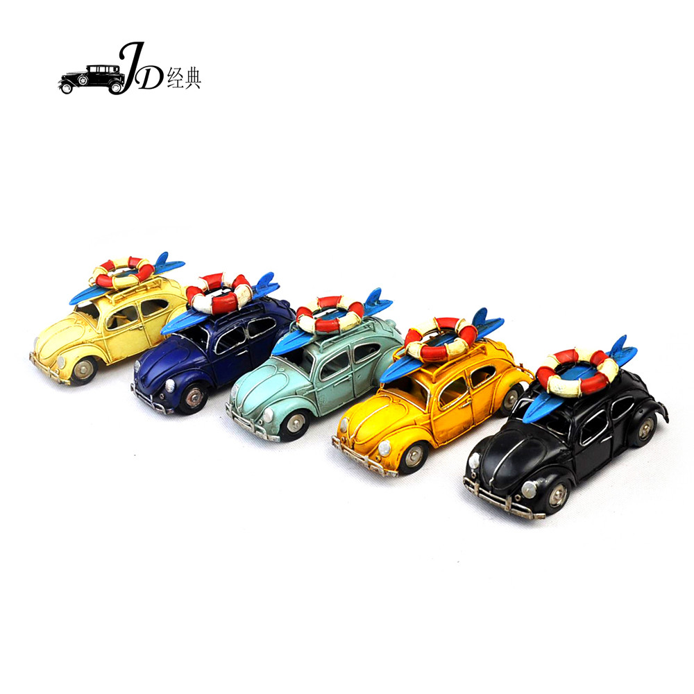 Wholesale Decorative Vintage Handmade Car Model <strong>Metal</strong> 5 Colors Available 3975