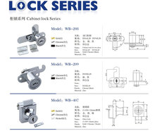 10-225mm Wooden Furniture Cam Lock key alike cabinet lock WB103-25
