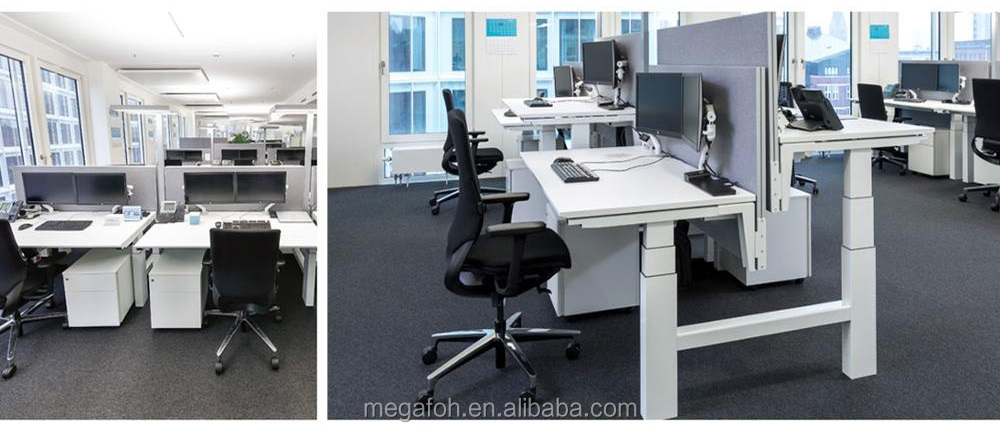 Sit stand up electronic height adjustable office workstation desk