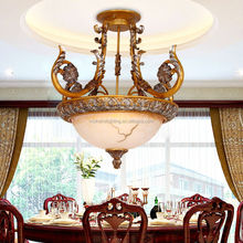 golden and sliver color ceiling lamp in resin body for balcony and bedroom