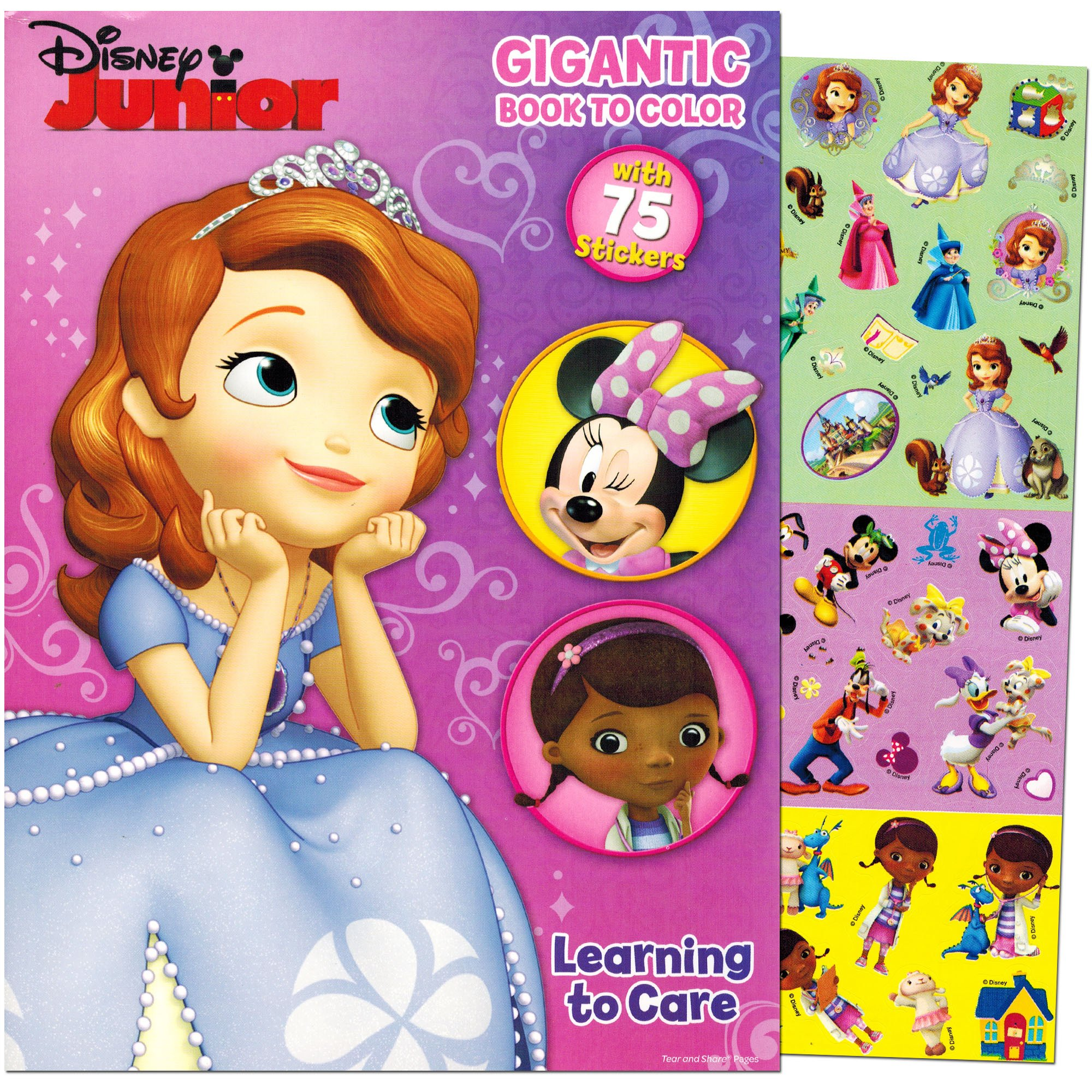 Disney Junior Gigantic Coloring Book For Girls With Stickers 224 Pages Featuring Sofia The