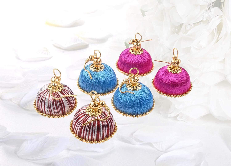 Krishna Handmade INDIAN Trendy Chandelier Earrings [3 pair of Earrings] [20mm Dia] [KR-CMB-H32]