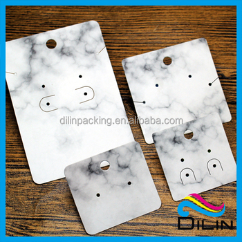 Chinese Ink Painting Jewelry Earring Display Card With Unique Design For Ng