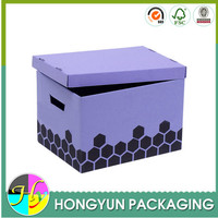 Custom colors non woven multipurpose storage, storage box with handle
