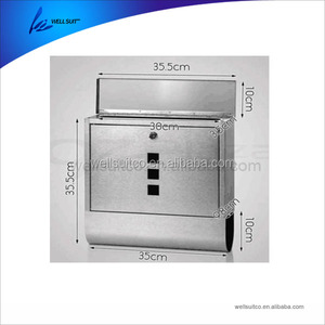 Homdox Locking Wall Mounted Vertical Mailbox Post Mailbox for Home House Apartment