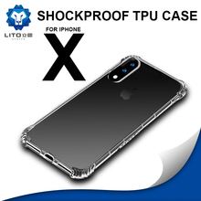 Phone accessories mobile In stock wholesale Ultra thin shockproof tpu case for iphone x, for iphone x case tpu