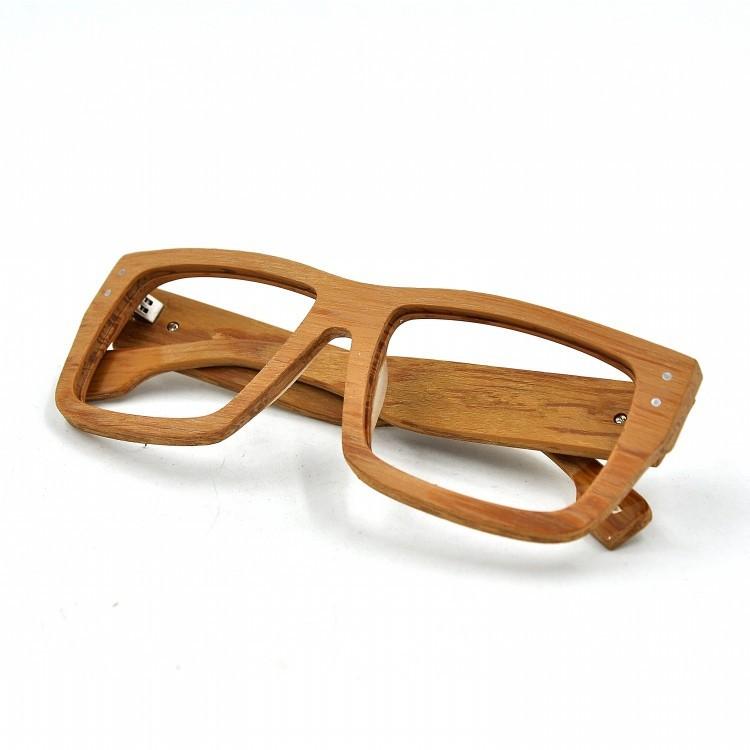 1b5385c475 Madera cuadrada gafas ópticas marco, marcos de las lentes-Armazones ...