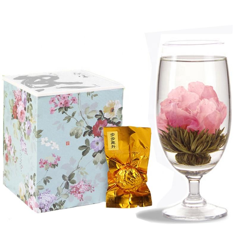 Handcrafted Pink Peony Blooms Tea Organic healthy Flowering Blooming Tea - 4uTea   4uTea.com