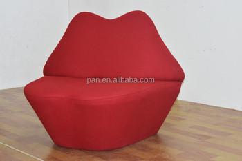 Replica Classical Modern Home Furniture Mae West Red Lips Kiss Sofa Chair