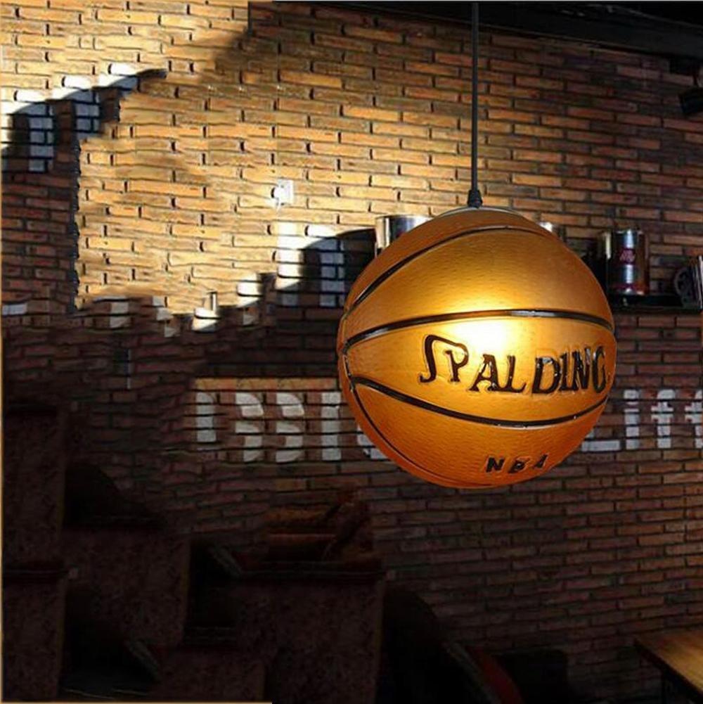 Get Quotations Wei D American Basketball Chandelier Creative Personality Kids Room Bedroom Pendant Light Retro Bar