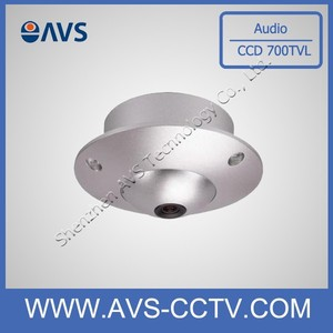 Vandal-proof ccd 700tvl security cctv dome camera metal housing with audio