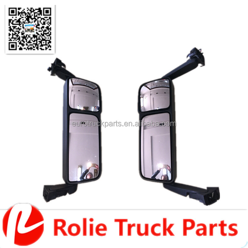 Heavy duty european MP4 truck body parts oem A9608103516 left short arm electric rear view mirror