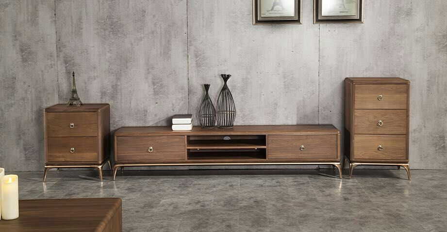 Latest design unique high end wooden style elegant tv stands