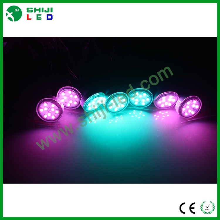 45mm waterproof lighting decoration SMD 5050 RGB LED point light for amusement fairground