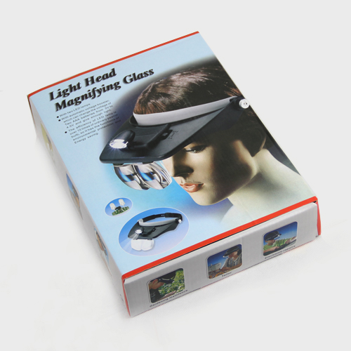 Portable led light head magnifying glass / head magnifier mirror