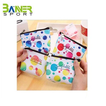 Colorful Handmade Artwork Coin Purse With