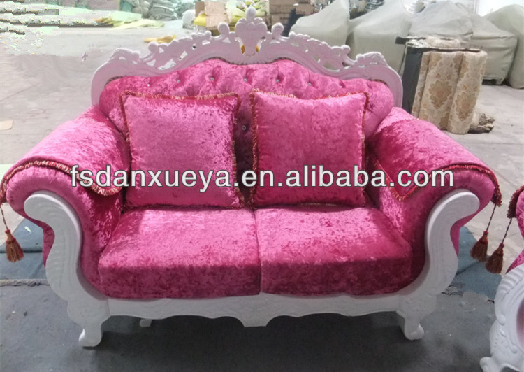 Genuine Leather Combined With Fabric Sofa Set, Genuine Leather ...