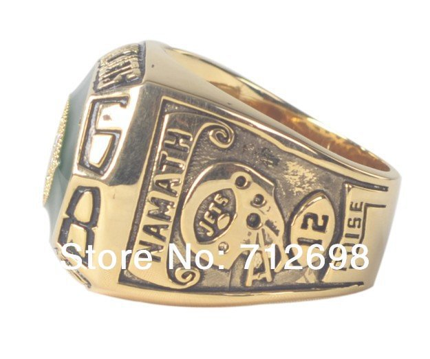 Nice 1968 NFL Super Bowl III New York Jets Championship Ring  free shipping