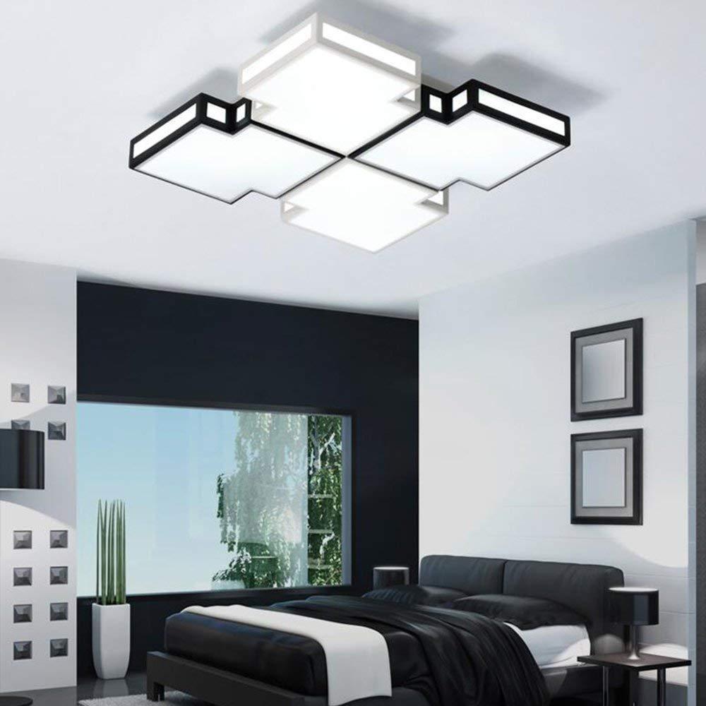 XQY Ceiling Light-Square 30W Led Iron Lamp Body Acrylic Shade Modern Simplicity Lamps 40 40 8Cm - Energy Saving