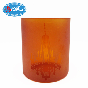 Matt frosted hand made glass hurricane light candle shade