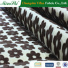 China textile direct factory manufacturer Black white square pattern flocked arab black abaya fabric