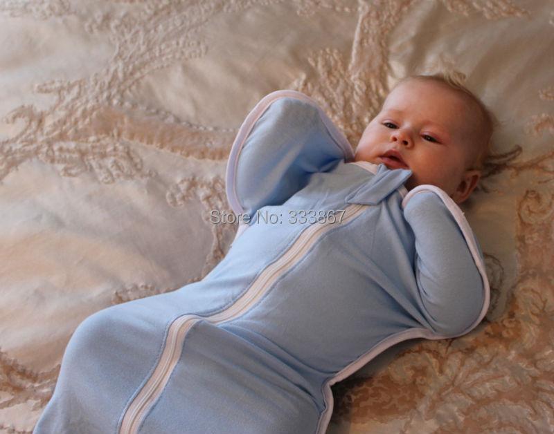 1 шт. подобрать Sleepsack на молнии пеленание спальный мешок хлопок 9 цветов, 3 размера ( 3-6kgs, 6-8.5kgs, 8.5-11kgs )