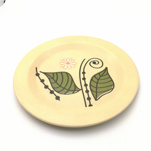 eco friendly biodegradable easy clearly bamboo fiber plate