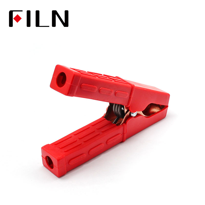 100mm 100A Coplete Insulated Golden Plated Power Charging Car Van Battery Clamp Alligator Clamp