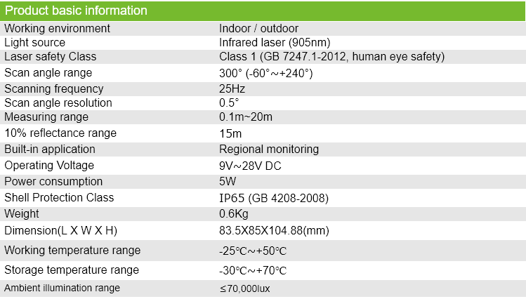 High-precision High-resolution High-stability Outdoor AGV Lidar Sensor