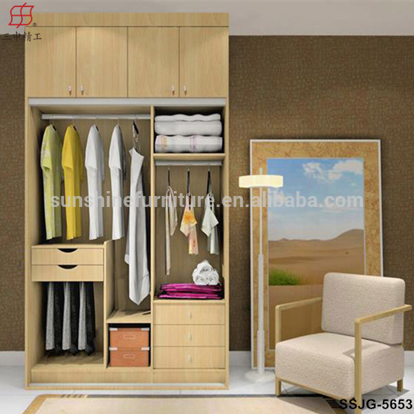 Newly Modernwood Cheap Corner Bedroom Wardrobe,Detachable