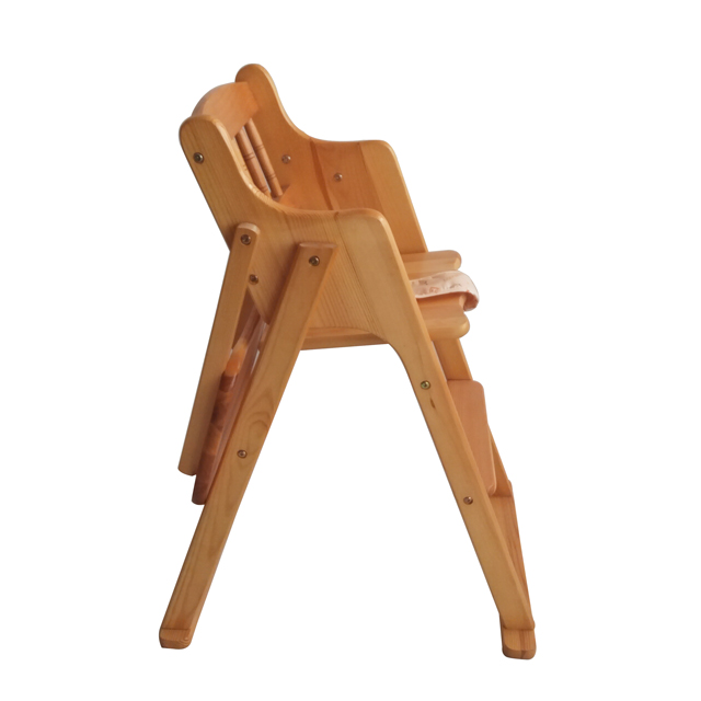 3 in 1 can foldable baby seat high chair wood/adjustable baby chair with table