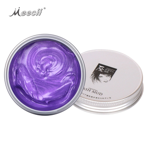 Ash Mud Temporary Hair Dye Pomade Disposable Washable Styling Hair Color Wax Clay
