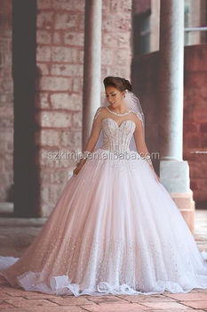 Wedding Dress Crystal Stones 2018 Luxury Backless Bridal Dresses With Sweetheart Neckline Tulle Gowns