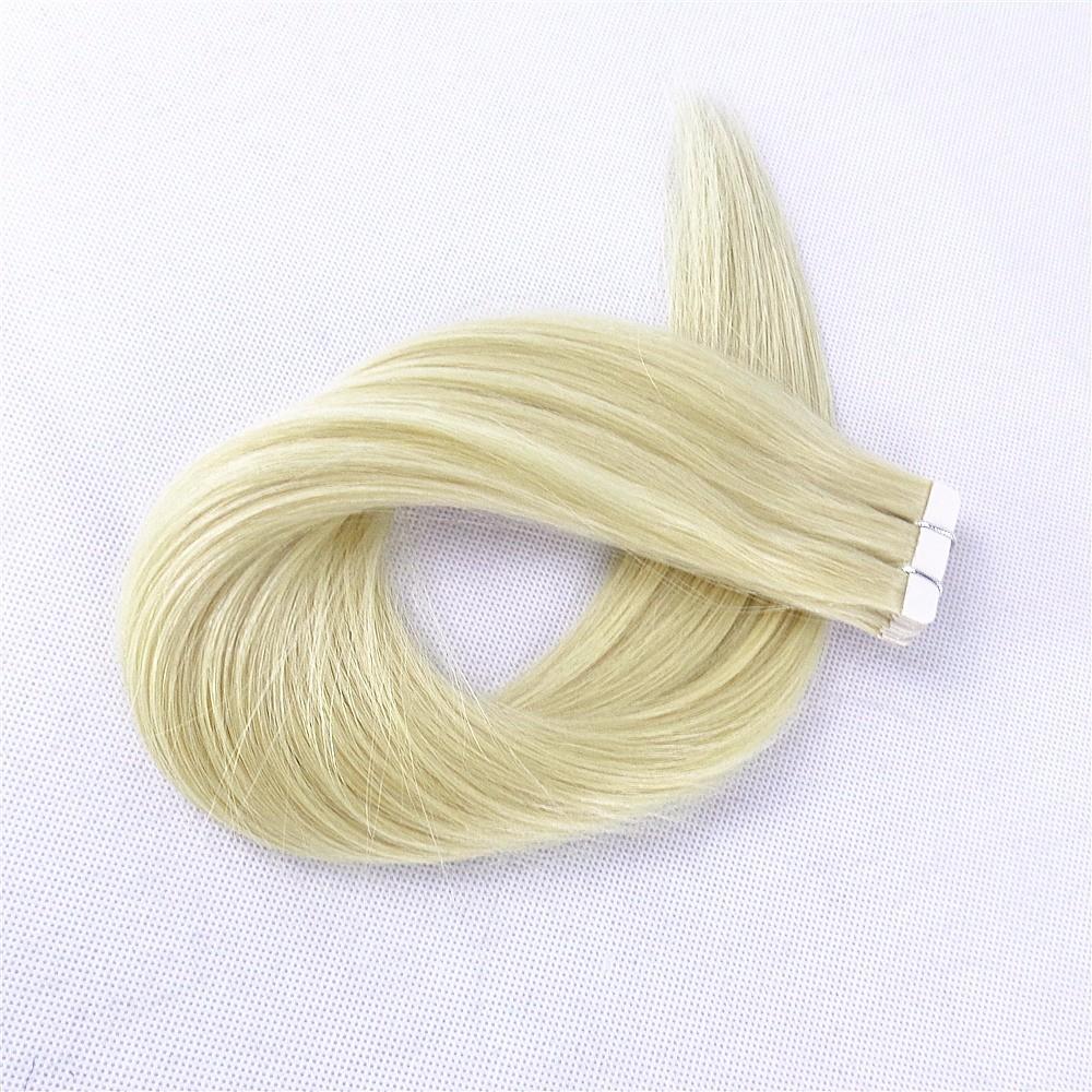 Zeer Feedback grade 9a virgin 613 kleur menselijk haar tape hair extensions blonde super tape in remy indian human hair extensions
