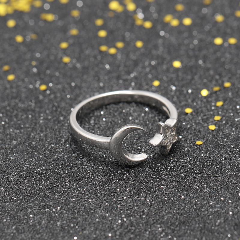 whosesale rhodium plating 925 sterling silver opening ring