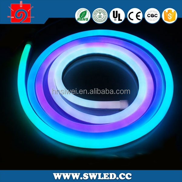 Led Flexible Neon Strip Ligcolor Changing Led Neon Rope Light ...