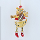Resin lute tiger ornament christmas decoration 2017