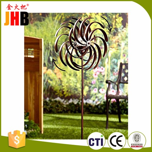 JHB Wind Spinner Decorative Kinetic Counter-motion Windmill Steel Design 12 W x 59 H
